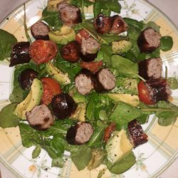 Picture of Chilli, Sausage and Avocado Salad